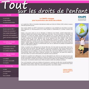 Un site sur les droits de l'enfant